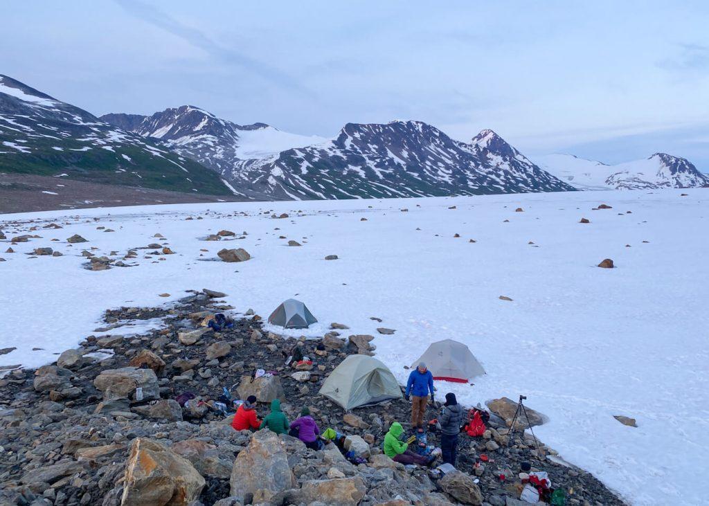 glacier camping alaska