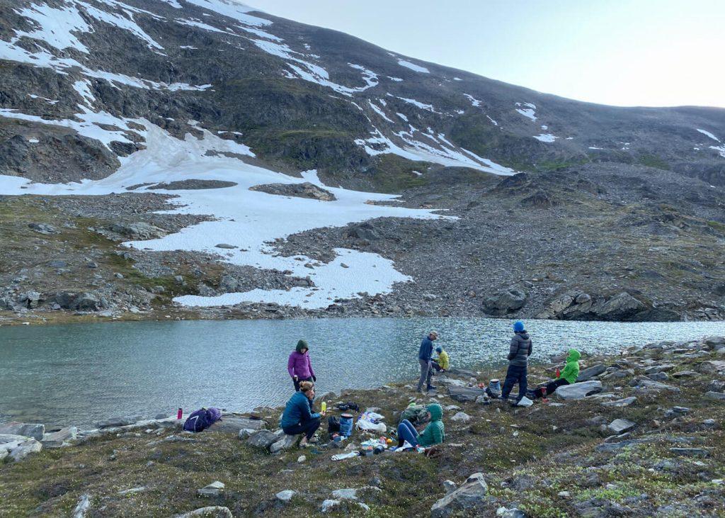alpine lake remote backcountry hiking alaska