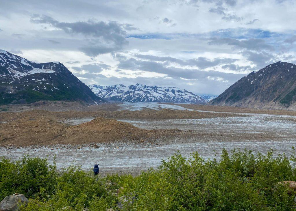 overlooking bremner glacier alaska
