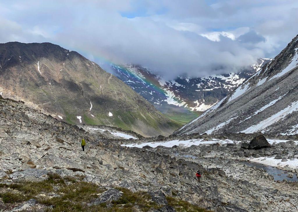 boulder fields iceberg lake to bremner mine