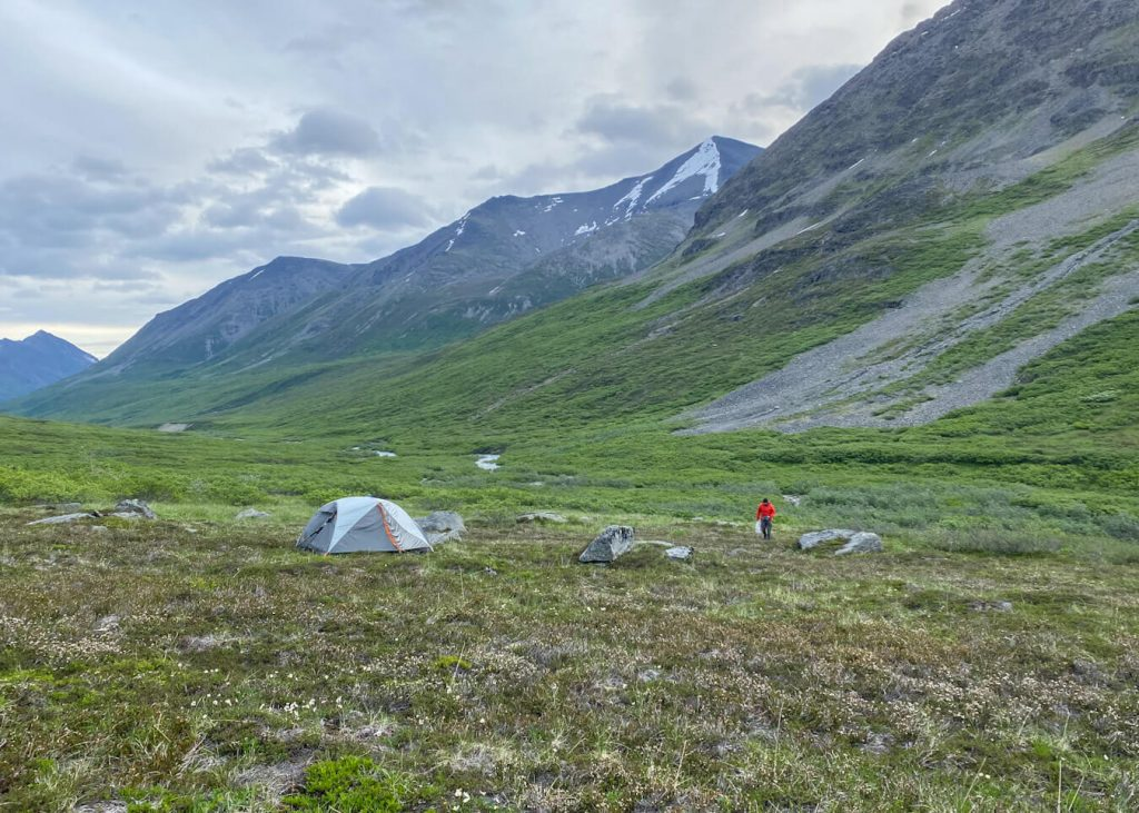 backcountry camping meadow iceberg lake to bremner mine