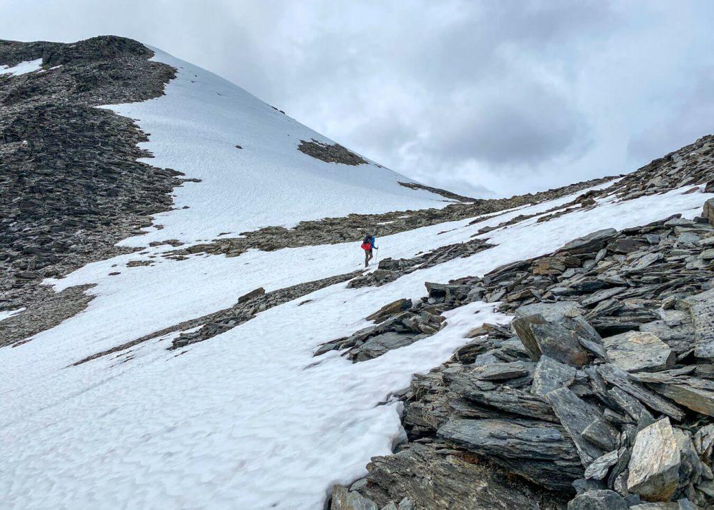mountain pass snow chugach mountains