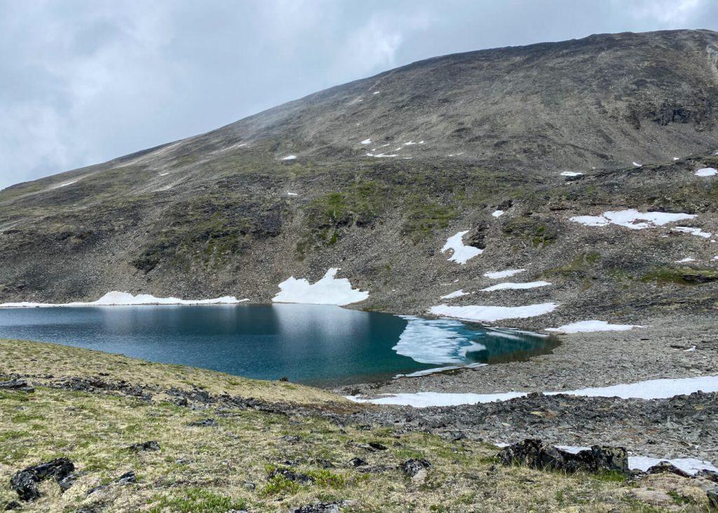 blue-green alpine lake alaska