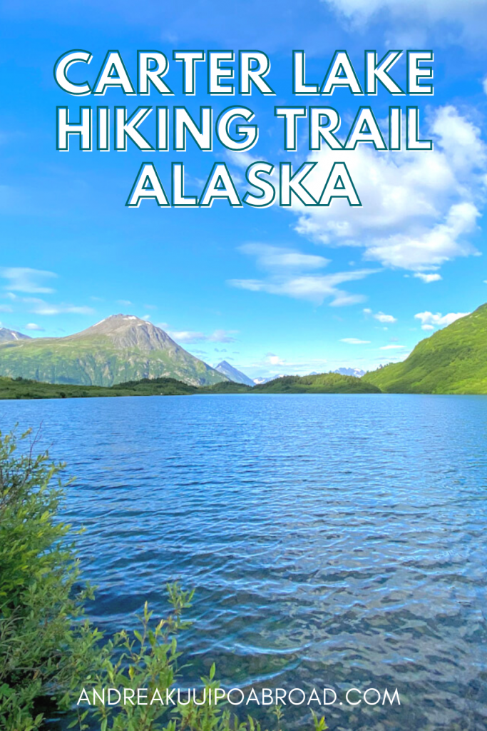 Hike Carter Lake Trail near Moose Pass, Alaska. One of the best hikes in Kenai Peninsula will take you to a beautiful lake in the Kenai Mountains. Add this hike to your Alaska travel things to do.