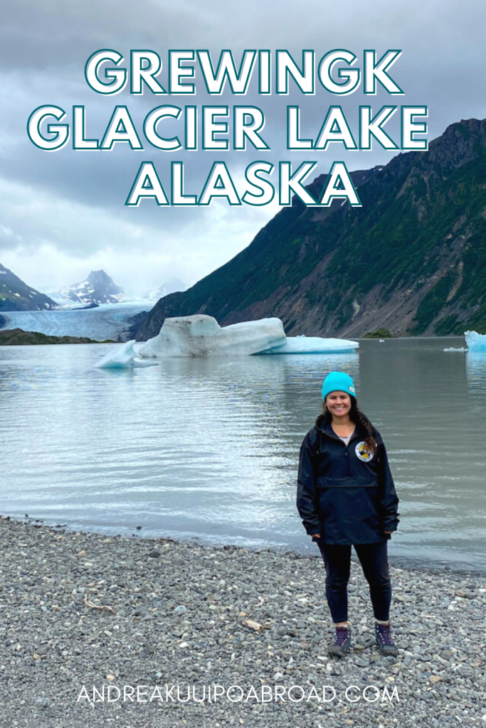 Hike Grewingk Glacier Lake Trail in Kachemak Bay State Park, Alaska. This is the best hike near Homer in Southcentral Alaska. If you are traveling to Homer, Alaska, this is a great day hike to add to your Alaska vacation. #alaska #hiking #alaskahike #homer #travelalaska
