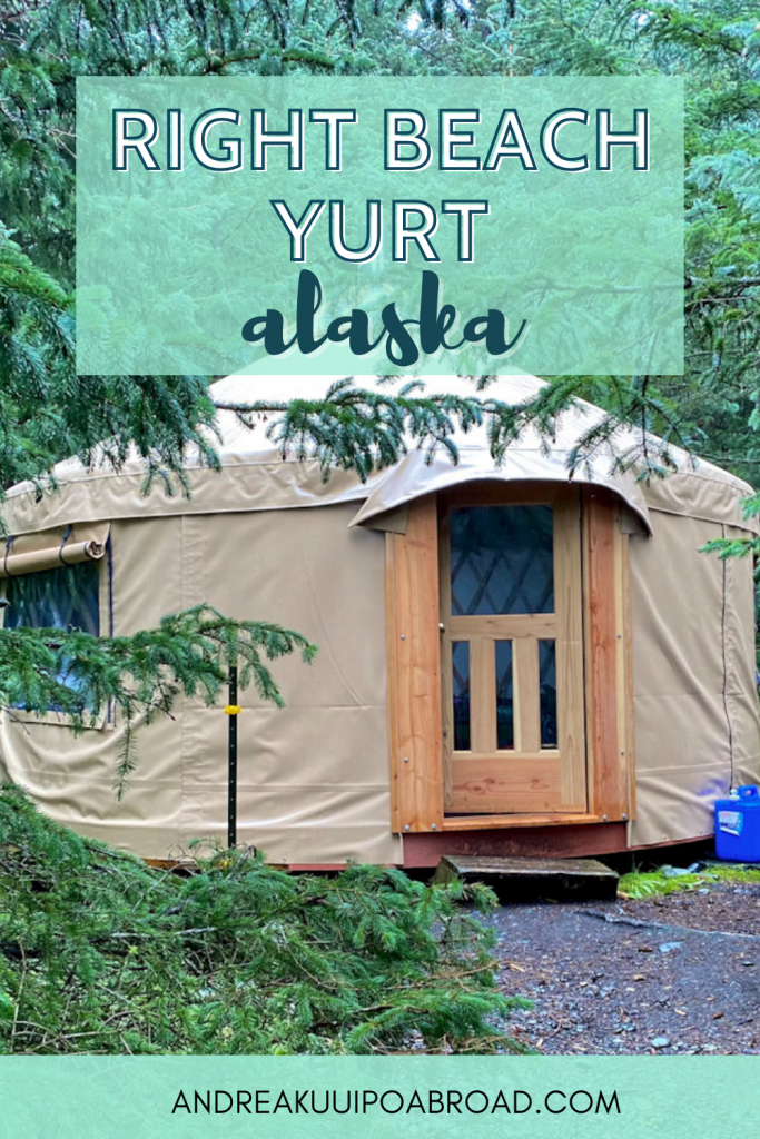 Stay at this relaxing yurt at a remote beach in Alaska. Right Beach yurt in Kachemak Bay State Park across the bay from Homer is a yurt that you can rent and sits 50 yards above the beach. If you want to add some adventure travel to your Alaska vacation then add this to your list. #alaska #hiking #beach #kachemakbay #yurt