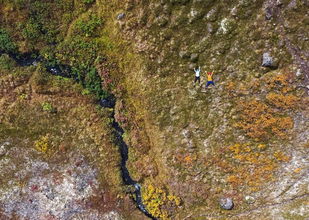 aerial view drone footage alaska