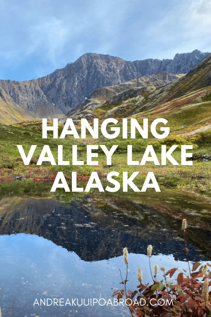 Hike Hanging Valley Lake in Eagle River Alaska. This alpine lake sits in a bowl surrounded by Chugach Mountains in Eagle River Valley. Add this hike to your Alaska vacation. #Alaska #EagleRiver #Hiking #ChugachMountains