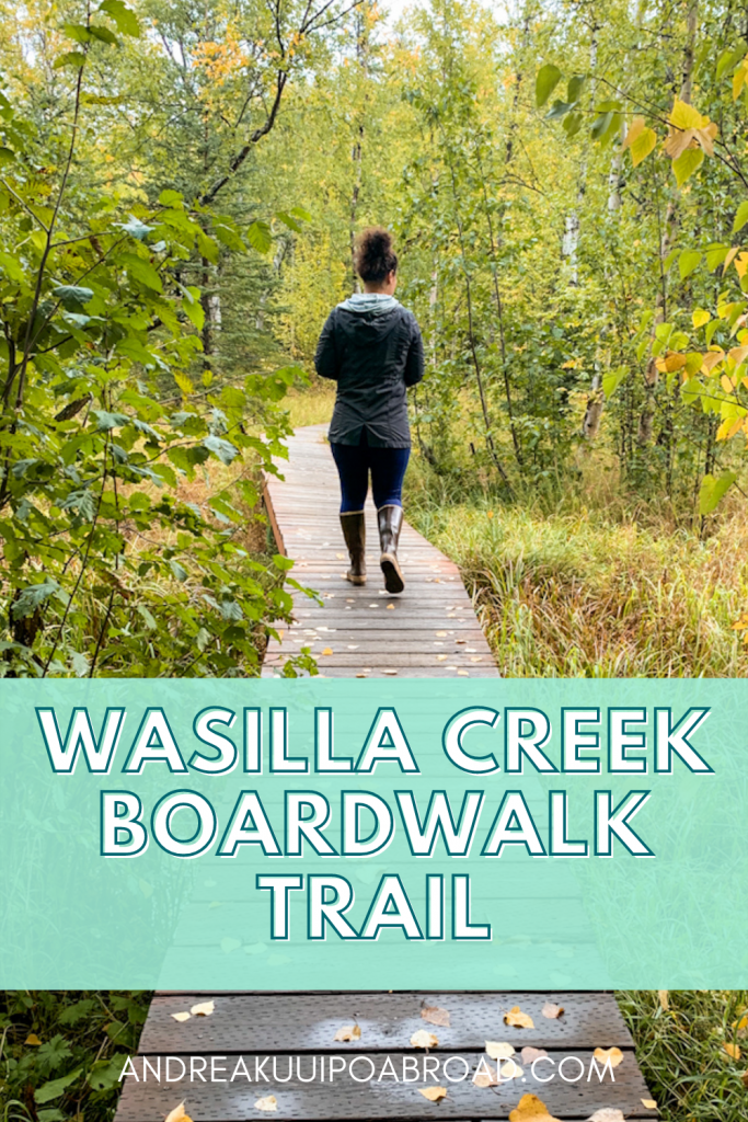 Hike Wasilla Creek Boardwalk in Wasilla, Alaska. This is the best hike near Wasilla in Southcentral Alaska. If you are traveling to Wasilla, Alaska, this is a great day hike to add to your Alaska vacation. #alaska #hiking #alaskahike #wasilla #matsuvalley #travelalaska